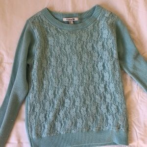 Forever 21 lace front sweater-Lightly worn